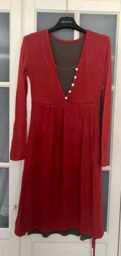 Rotes Jersey-Kleid