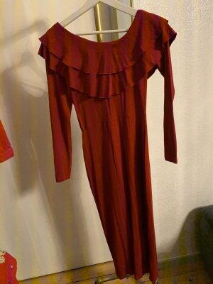 Asos Midi Dress carmine-dark red