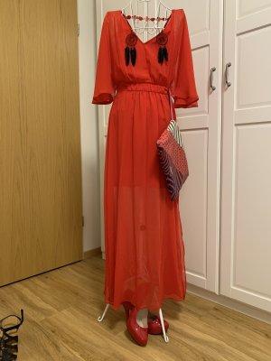Naf naf Vestido largo rojo