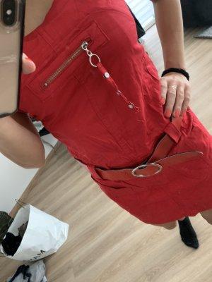 Sukienka tunika czerwony