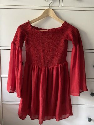 H&M Divided Abito hippie rosso Poliestere