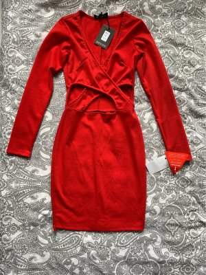 Club L Mini Dress red-dark red