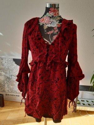 Zara Robe Hippie noir-rouge