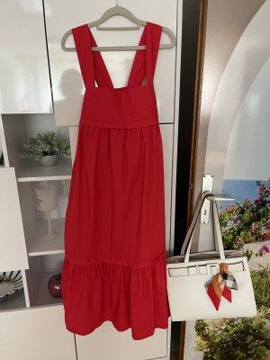 0039 Italy Vestido tipo overol rojo