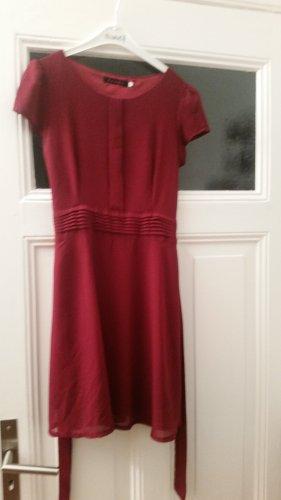 tenki Chiffon jurk donkerrood