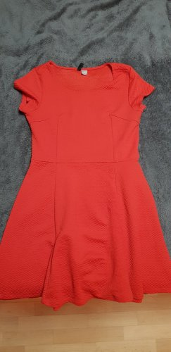 H&M Divided Abito jersey rosso