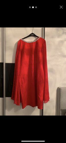 Geklede jurk rood-donkerrood