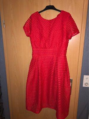 Boohoo vestido de globo rojo
