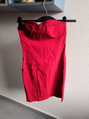 Asos Abito senza spalle rosso