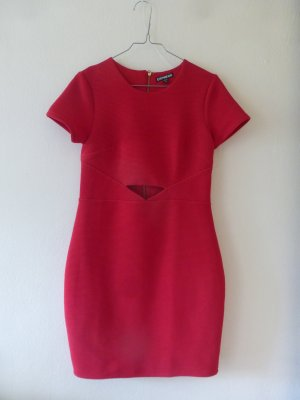 rotes Kleid Express S cut out
