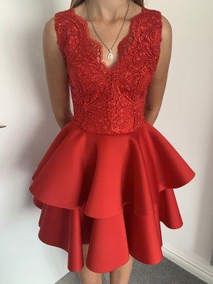 Robe de soirée rouge-rouge brique