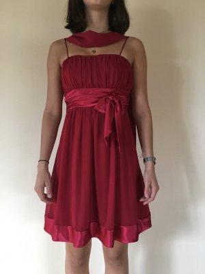 Rotes Kleid für besondere Anlässe mit Schal  von J.L.O.S