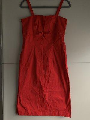 Rotes Kleid mit Schleife - NEU