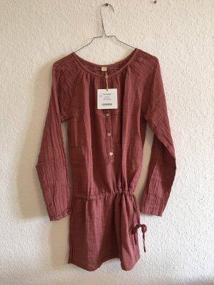 Robe tunique multicolore coton