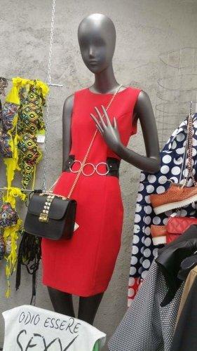Gil Santucci Tube Dress red