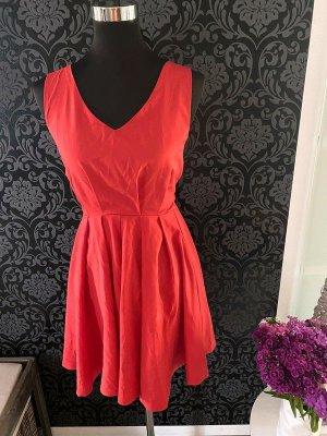Louche Sukienka gorsetowa czerwony neonowy-czerwony Poliester