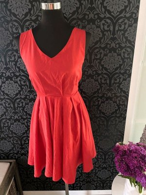 Louche Bustier Dress neon red-red polyester
