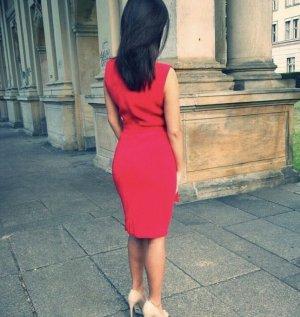 René Lezard Sukienka etui czerwony-ciemnoczerwony