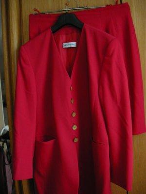 dino moda Tailleur rosso