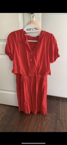 Calvin Klein T-shirt jurk wit-donkerrood