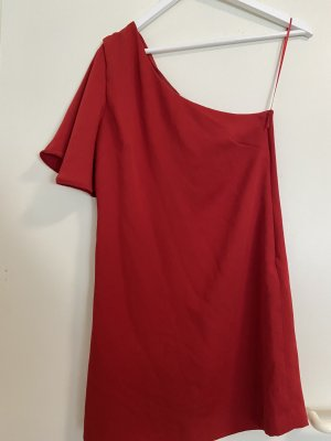 Rotes kurzes One-Shoulder