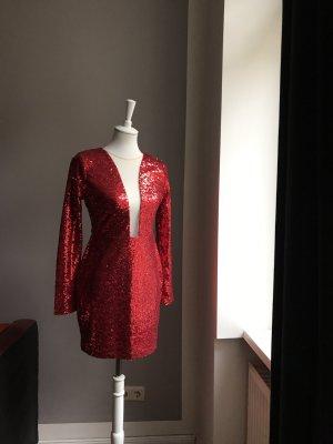 Rare london Cekinowa sukienka czerwony