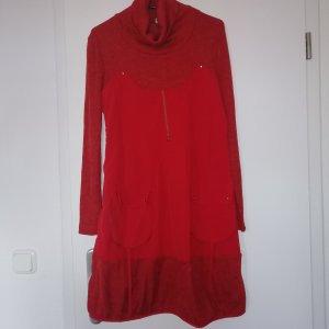Franstyle A Line Dress red
