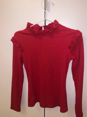 Sheinside Camicia lunga rosso scuro
