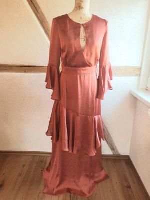 rotes langes Kleid Abendkleid