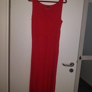 Rotes langes Sommershirtkleid Gr  M 40  nie getragen