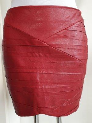 Zara Basic Rok van imitatieleder rood