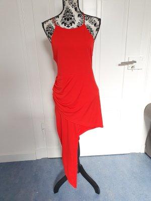 Robe bas asymétrique rouge