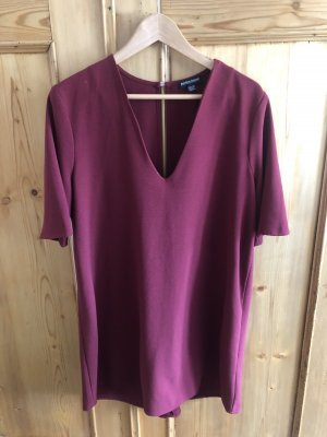 American Apparel T-shirt jurk bordeaux-donkerrood