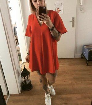 Rotes lockeres Kleid von Zara in A-Linie Größe S