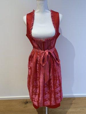 Melega Vestido peplum rojo oscuro-rojo frambuesa