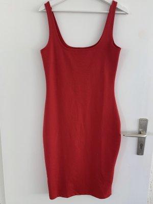 Cotton On Midi Dress dark red-brick red