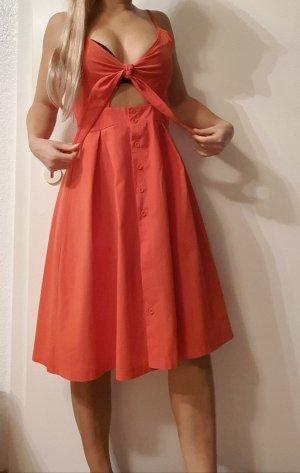 Vestido cut out rojo claro-rojo