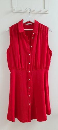 Rotes Mini Skaterkleid Blusenkleid Mango Gr. L