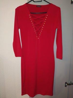Metrofive Robe en laine rouge