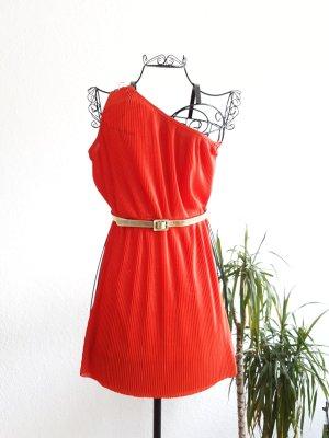 Rotes Minikleid mit Gürtel