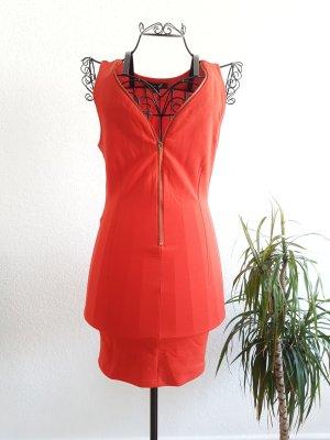 Rotes Minikleid mit Reißverschluss
