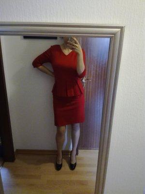 Mint&berry Vestito peplo rosso