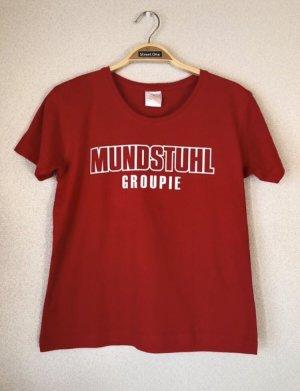 T-shirt biały-czerwony