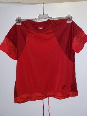 Nike Siateczkowa koszulka czerwony Bawełna
