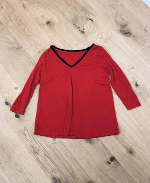 Rotes Oberteil, 3/4 Ärmel Langarmshirt/ leichter Pullover weinrot v Ralph Lauren in Gr M/ 38