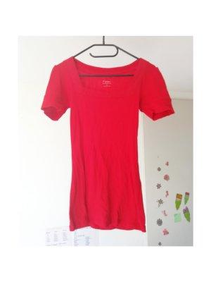 Rotes Oberteil Shirt Basic Tee mit Glitzersteinen von Express