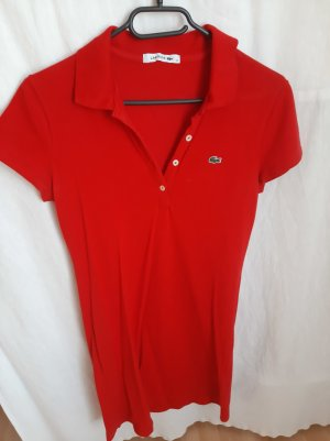 Lacoste Polo Dress red