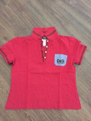 Rotes Poloshirt von Dolce und Gabbana