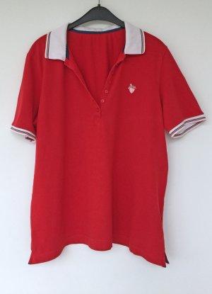 Gerry Weber Polo blanc-rouge coton