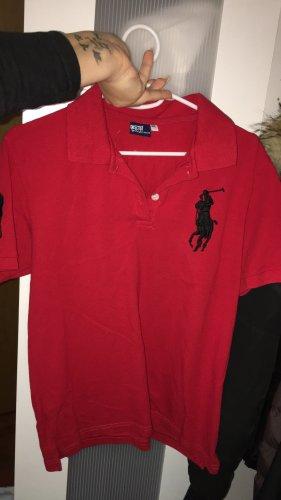 Ralph Lauren Top Polo nero-rosso
